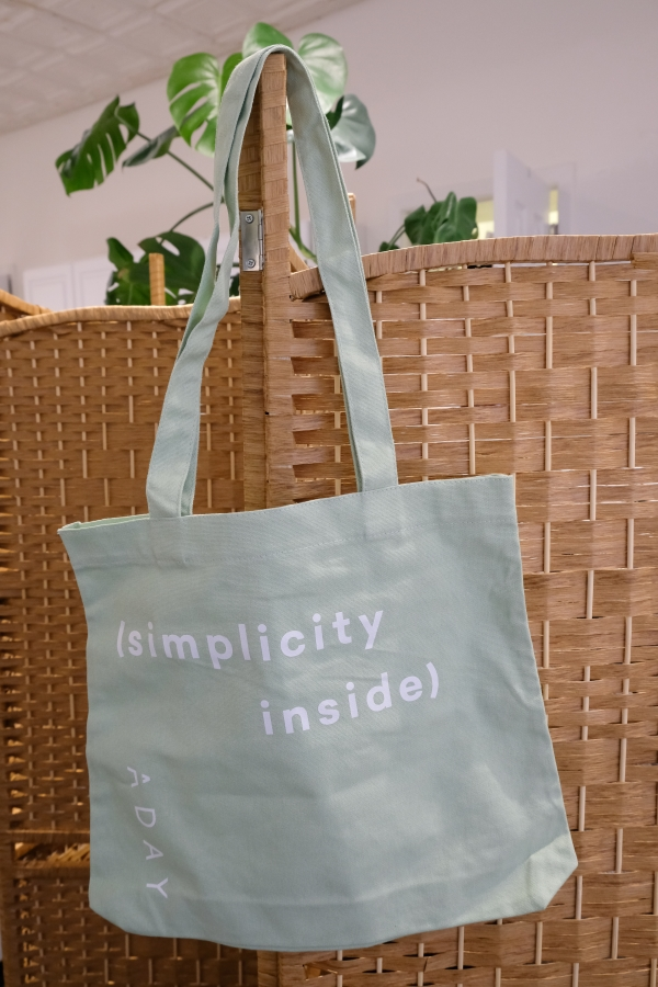 sustainable fashion brand ADAY tote bag