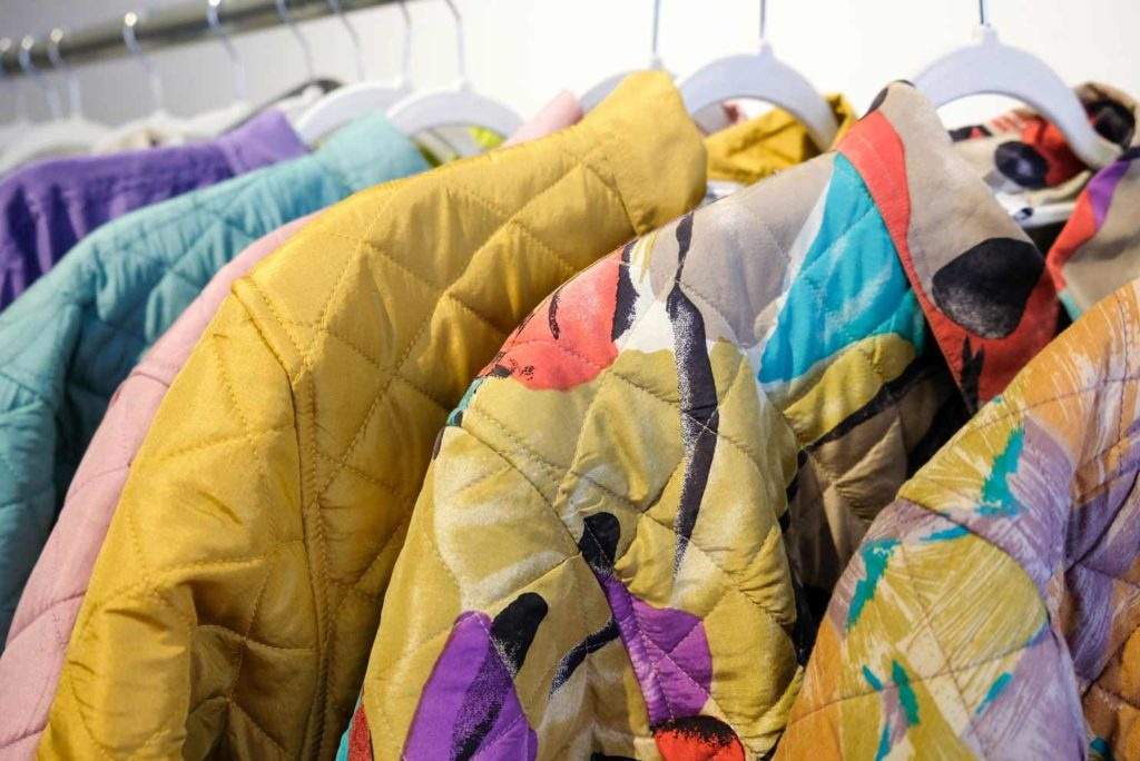 upcycled bold colored jackets by masha maria